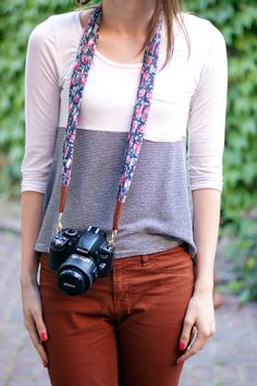 Make a Camera Strap | Community Post: 19 Ways To Repurpose Your Scarves For Fall