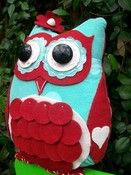 Image of Lady Starla Willow Owl PDF Epattern Ebook Tutorial Bird Easy Girl Pillow Softie Toy Felt Crafts, Fabric Crafts, Diy Crafts, Owl Sewing Patterns, Whimsical Owl, Owl Pillow, Wise Owl, Perfect Pillow, Softies