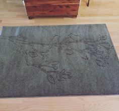 "4x6 Hand-Carved Custom ""Bird & Branch"" Rug"