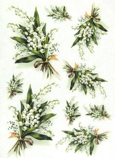 Ricepaper Decoupage Paper Scrapbooking Sheets Craft Paper Lily of The Valley | eBay