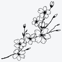 Flower Art Drawing, Floral Drawing, Simple Flower Drawing, Flower Tattoos, Small Tattoos, Simple Forearm Tattoos, Flower Tattoo Designs, Voll Arm-tattoos, Tattoo Signs