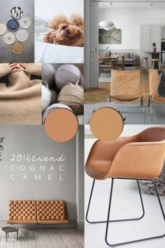 COGNAC CAMEL LEATHER - 2016 colour trends - italianbark interior design blog