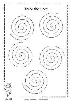 Free swirl tracing sheet
