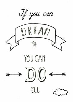 Disney quotes, walt disney quote, dream it do it, calligraphy quotes disney, Doodle Quotes, Bullet Journal Quotes, Bullet Journals, Jolie Phrase, Motivational Quotes, Inspirational Quotes, Hand Lettering Quotes, Calligraphy Quotes Disney, Typography