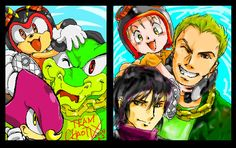 Team CHAOTIX 2up by manaita.deviantart.com on @deviantART
