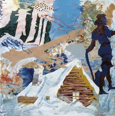 Per Kirkeby, <em>Regicide at Finderup Barn</em>, 1967. Mixed media on Masonite, 48 x 48 in. Louisiana Museum of Modern Art, Humlebaek, Denmark. Acquired with funding from the Otto Bruun Foundation