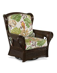 Wicker Recliners/Swivel Rocking Chairs, wonder if this comes in black? Outdoor Chairs, Outdoor Furniture, Outdoor Decor, Beach House Furniture, Swivel Glider, Recliners, Rocking Chairs, Tropical Decor, Wicker