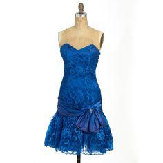 Cobalt Blue Lace Prom Dress