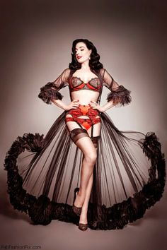 975cdd6d510c Dita Von Teese collaborates with Bloomingdales on vintage lingerie  collection