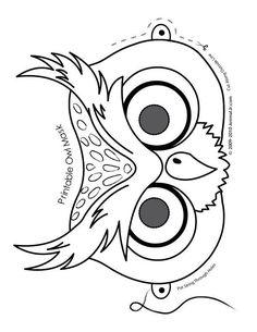 Halloween Animal Masks to Print Owl Mask Coloring Page – Animal Jr. Printable Halloween Masks, Printable Masks, Printable Crafts, Free Printable, Printable Paper, Printable Animals, Owl Coloring Pages, Printable Coloring, Coloring Books