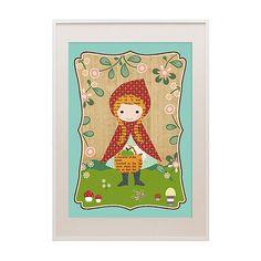 Süßes Rotkäppchen Kinder Poster Collage von VintagePaperGoods - GreenNest auf DaWanda.com
