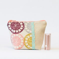 Small Makeup Bag Zipper Pouch in View Master