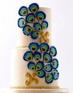 Peacock Cake, Peacock Theme, Peacock Decor, Types Of Wedding Cakes, Indian Wedding Cakes, Ganpati Decoration Design, Janmashtami Decoration, Acrylic Rangoli, Cake Structure