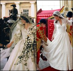.love these two wedding day pics side by side-  both are beautiful brides in their own individual beauty!