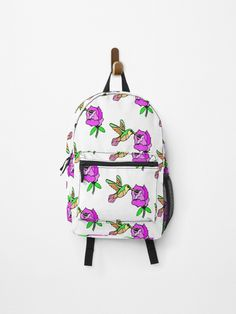 hummingbird flower Painting • Millions of unique designs by independent artists. Find your thing. Painting Backpack, Hummingbird Flowers, Canvas Prints, Art Prints, Vera Bradley Backpack, Fashion Backpack, Finding Yourself, Backpacks, Artists