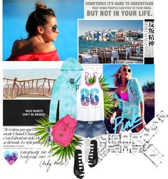 """Spring Breakers"" by pinky-shimmer ❤ liked on Polyvore"