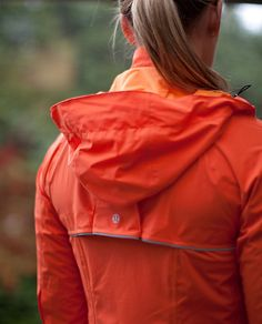 I LOVE this running jacket. But I didn't buy it because it only comes in boring black and safety orange! Yuck!
