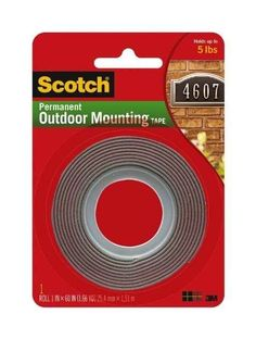 Use outdoor mounting tape for heavy things like bulletin boards.