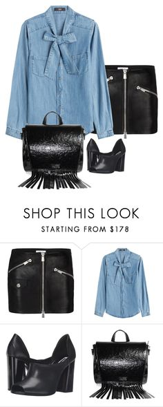 """Denim Blouse"" by polylana on Polyvore featuring Anine Bing, Steffen Schraut, McQ by Alexander McQueen and DateNight"
