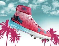 Bryce Harper's Custom Miami-Themed Under Armour Home Run Derby Cleats Are Freaking Sick - http://viralfeels.com/bryce-harpers-custom-miami-themed-under-armour-home-run-derby-cleats-are-freaking-sick/