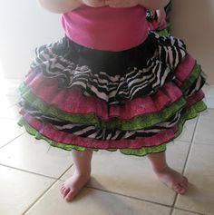 tutorial for ruffle skirt 18-24 mo