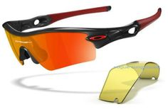 Oakley Radar Black Frame Red Sunglasses  $58.90 http://www.bigbootshotsale.com/