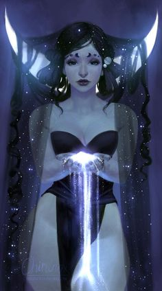 """""""Destiny has stretched her bloody talons toward me"""" (AS) — chirun-i:Hecate - Best Character Designs 2019 Goddess Art, Moon Goddess, Hecate Goddess, The Goddess, Norse Goddess, Witch Art, Character Design Inspiration, Pretty Art, Art Inspo"""
