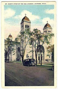 JacksonStaroftheSeaChurch   Flickr - Photo Sharing! Jackson Michigan, The Rock, Taj Mahal, Nostalgia, Sea, Explore, Cathedrals, History, Mary