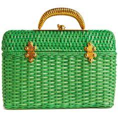 Vintage Brass is Always Greener Handbag (36,050 KRW) ❤ liked on Polyvore featuring bags, handbags, purses, borse, green, green purse, brass bag, green handbags, metallic purse and man bag