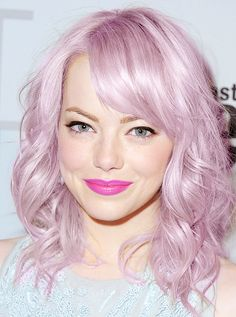 Not only is she cute but her hair is such an awesome color... I want to do this hair color next =)