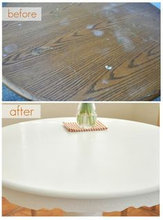 Should have read this before I painted my table! Tutorial: Painting a Kitchen Table (and how to protect paint job with wax finish