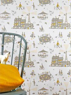 je veux une nouvelle maison tout de suite pour y coller ce papier peint !  #famillesummerbelle #wallpaper #paris