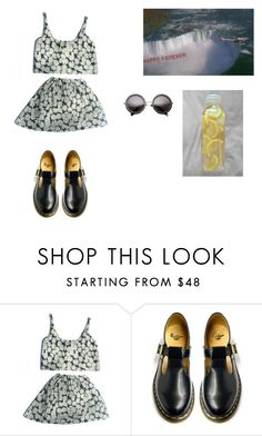 """""""Untitled #37"""" by cacaubsampaio ❤ liked on Polyvore featuring Dr. Martens and Roxy"""