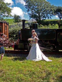 A wedding train on Rheilffordd Talyllyn Railway