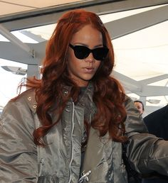 We all remember Rihanna's killer mermaid-red hair, but her latest iteration is a little earthier. She proves that Ginger Spice-inspired rust tones look even more rad for 2015. Image: Will Alexander/WENN.com