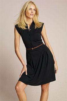 Dresses - Next Black Crepe Shirt Dress