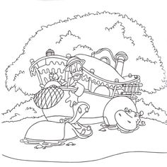Magic Kingdom coloring page Color me happy Pinterest