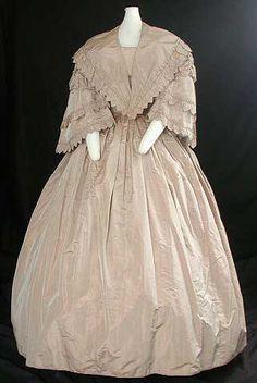 Wedding Dress, 1857, Silk