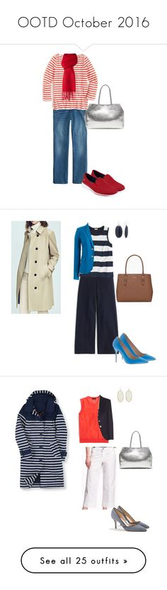 """""""OOTD October 2016"""" by miigwan ❤ liked on Polyvore featuring J.Crew, Moschino Cheap & Chic, Skechers, Banana Republic, Chaps, Kate Spade, Old Navy, Kendra Scott, Boden and Talbots"""