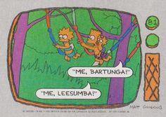 1990 Topps The Simpsons #81 Me, Bartunga!  Me, Leesumba! Front