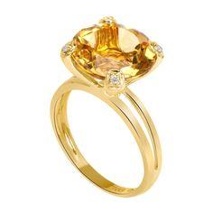 Para las amantes del oro amarillo....el citrino y los diamantes... $869 ♥.