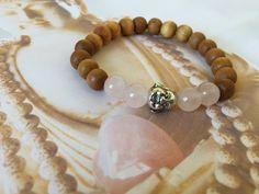 Pink quartz bracelet healing yoga bracelet by BeautifulShades