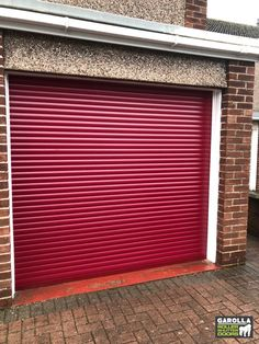 Roller Garage Doors from Garolla come in a variety of different shades. If you're looking for a new roller shutter, you'll be pleased to know that we have fantastic electric roller garage door prices. Click the link to get a new garage door. Garage Doors Uk, Red Garage Door, Garage Door Rollers, Garage Doors Prices, Garage Door Paint, Garage Door Decor, Garage Door Makeover, Garage Door Design, Roller Doors