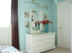 Horse decor for girl's room-cowgirl and femine