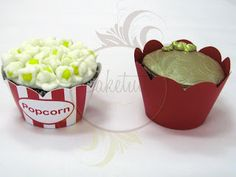 Caketutes Cake Designer: Circus Cupcake - Cupcake Circo - Pipoca - Popcorn Cupcake