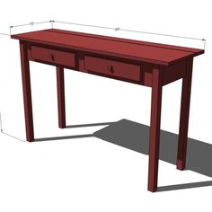 Average Sofa Table Size