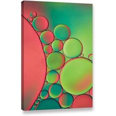 ArtWall Cora Niele Green Gallery-Wrapped Canvas, Size: 32 x 48, Green