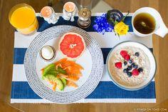 Hotel Breakfast Healthy Grapefruit Egg Avocado Smoked Salmon