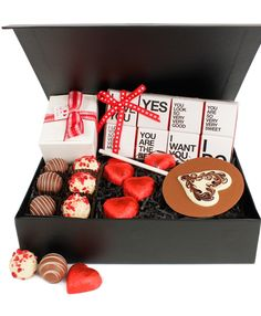 Our Amour Chocolate Hamper makes a great Valentine's Day gift www.eden4chocolates.co.uk Chocolate Hampers, Chocolate Gifts, Great Valentines Day Gifts, Gifts Delivered, Flowers Delivered, Delicious Chocolate, Chocolates, Girly, Packaging