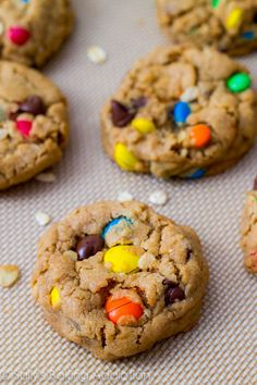 Soft-Baked Peanut Butter Monster Cookies
